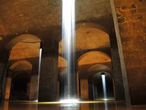 Water art installation. An indoor scene from an installation in an old water reservoir in Copenhagen Stock Images