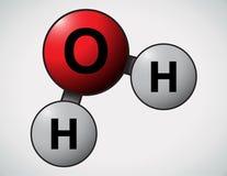 Water atoms. Cartoon vector illustration of water atoms royalty free illustration