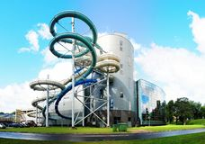 Water attraction park in Druskininkai spa city Royalty Free Stock Photos