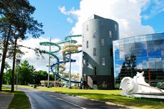 Water attraction park in Druskininkai spa city Royalty Free Stock Image