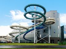 Water attraction park in Druskininkai spa city Stock Photos