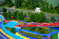 Water attractions in Mamaia resort Stock Photos