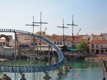 Water attractions in park Port Aventura Spain Stock Photos