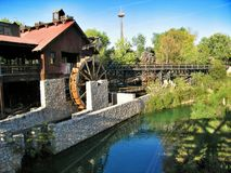 Water attractions in park Port Aventura Spain Royalty Free Stock Image