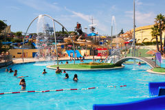 Water attractions at Water Park Stock Photos