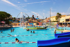 Water attractions at Water Park in summer Stock Photos