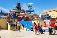 Water attractions at WaterPark Stock Photography