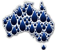 Water in Australia. A conceptual illustration depicting water in Australia Royalty Free Stock Photo