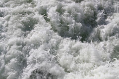 Water from back of boat 2. Raging ocean water from back of boat Stock Photo