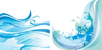 Water background 10 EPS Stock Image