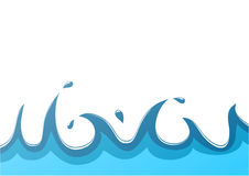 Water background. Water with splash background. blue Royalty Free Stock Photo