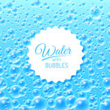 Water Background with Bubbles. Colourful Blue Water Bubbles Background. Vector illustration Stock Photography