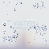 Water background with bubbles Royalty Free Stock Photos