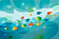 Water background, illustration. Blue Water background, vector illustration Royalty Free Stock Images