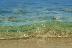 Water Background. Sea background with transparent water Royalty Free Stock Photography