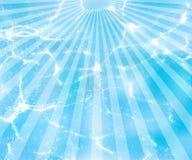 Water background with sun rays. Sunburst blue  background pattern illustration Royalty Free Stock Photo