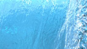 Water background texture pouring down in cascade in slow motion abstract at 1500 fps. Tabletop stock video footage
