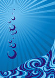 Water background. (vector illustration) Stock Image
