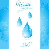 Water background with water drops Royalty Free Stock Images