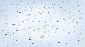 Water backgrounds with water drops. Blue water bubbles. Stock Images