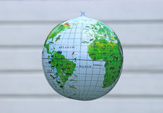 Water ball globe, bright background Royalty Free Stock Images