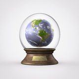 Water ball planet earth. Taking care of our planet Stock Photography
