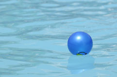 Water ball in swimming pool Royalty Free Stock Image
