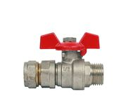 Water ball valve isolated Stock Images