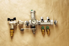 Water ball valves Royalty Free Stock Image