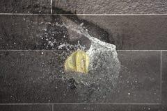 Water balloon exploding Stock Photo