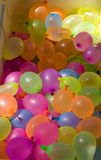 Water Balloons. Lots of water balloons ready to be used stock photography
