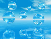 Water balls Stock Images