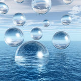 Water balls Stock Photography