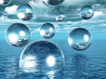 Water balls Royalty Free Stock Photography