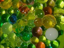 Water balls in colors. royalty free stock photo