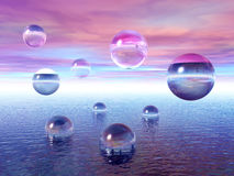 Water_balls_PM ilustração do vetor