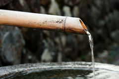 Water From Bamboo Font Royalty Free Stock Images