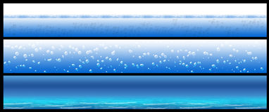 Water banner set Stock Photos