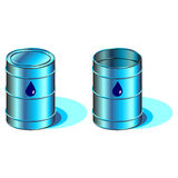 Water barrels Royalty Free Stock Images