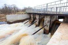 Water Barrier Dam. In Rostov region. Russian federation Royalty Free Stock Photography