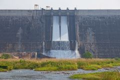 Water barrier dam Stock Photography