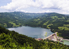 Water barrier dam, Perucac on river Drina, Serbia Royalty Free Stock Image
