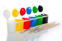 Water based paints Royalty Free Stock Photos