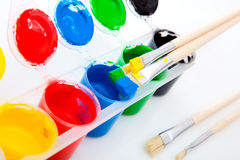 Water based paints Royalty Free Stock Photography