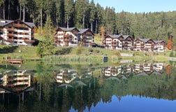 Water basin Hrabovo near town Ruzomberok, Slovakia Stock Images
