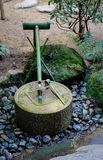 Water basin at Japanese zen garden. For relaxation balance and harmony spirituality or wellness Stock Images