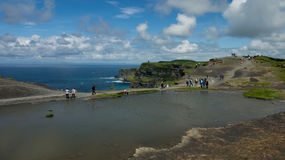 Water basin on top of the Cliffs of Moher Royalty Free Stock Photography
