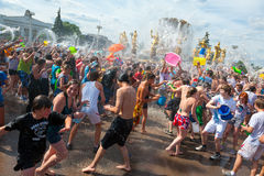 Water Battle flash mob Royalty Free Stock Images