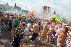 Water Battle flash mob Stock Images