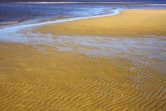 Water and beach  in rio de la plata Royalty Free Stock Photo